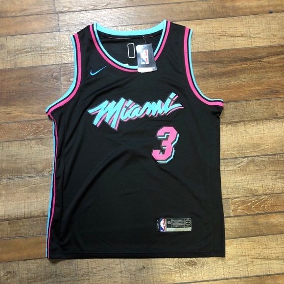 reputable site 71b2c 80b61 NWT Dwayne Wade Miami Heat NBA City Jersey NEW NWT